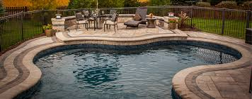 inground pools with waterfalls and hot tubs. Vinyl Liner Inground Swimming Pool Pools With Waterfalls And Hot Tubs