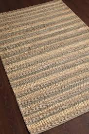 rugsville modern braided multi jute dhurrie rug 4 x 6