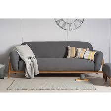 home living sofas 3 seater sofas milo modern 3 seater sofa dark grey