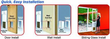 easy installation in doors walls and sliding glass patio pet doors how to install pet door