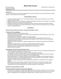 case manager resume objective  best resume sample