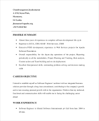 Profile Example Resume Resume Profile Example 7 Samples In Pdf Word