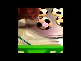 Soccer Ball Icing Decorations Soccer Balls cookies by Happy Flour Creations YouTube 75