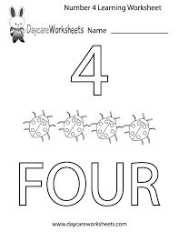 number four learning worksheet printable preschool numbers worksheets free worksheets library download on antecedent worksheets