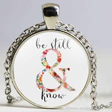 whole jewelry verse art be still and know necklace inspirational jewelry psalm fashion women men faith gifts horse pendant necklace cute