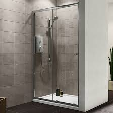 Plumbsure Single Sliding Shower Door (W)1200mm | Departments | DIY at B&Q