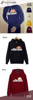 Ellesse Mens Hoody Hooded Pullover Hoodies Bnwt Please Check