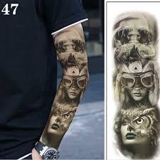 большие татуировки на руку водонепроницаемые временные татуировки наклейки