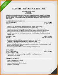 Babysitter Resume Template Enchanting Resume Sample For Babysitter