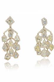 chopard chandelier lotus cut diamond earrings profile photo