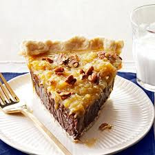 Best Pie Recipes Coconut Pecan German Chocolate Pie Recipe Taste Of Home