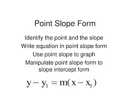 point slope from example explantion