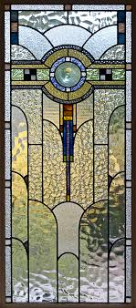 file art deco stained glass in a melbourne house jpg