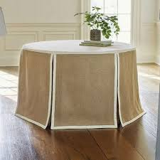brown plain dyed pattern round table underlay and overlay