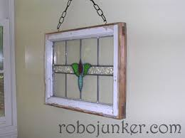 stained glass window just hung on the wall