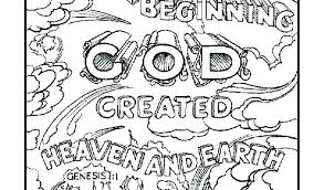 Creation Coloring Pages For Sunday School Page Download By Preschool