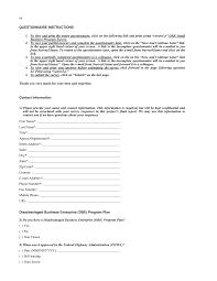Appendix E Survey Questionnaire State Department Of