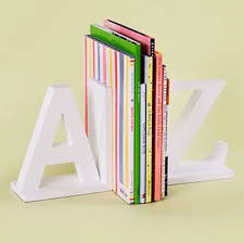 kids accessories white alphabet a to z kids bookends white alphabet a to z