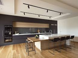modern wood kitchen cabinets. Contemporary Kitchen Island Ideas Including Large Cabinets With Stove Plus Modern Wood Sink And Faucet Stools On Wooden C
