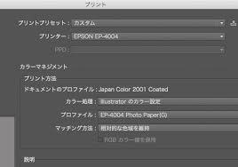 Illustratorから正しい色で印刷 プリント設定の方法 カラー
