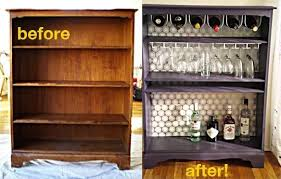 diy bar. DIY Bar (Repurposed Bookshelf) Diy