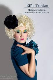 the hunger games effie trinket costume makeup tutorial