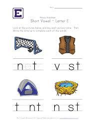 Short vowel e worksheet and other phonics worksheets | homeschool ...