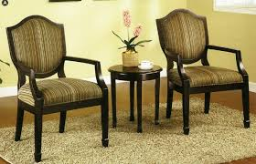 com 3 pc set of 2 accent chairs table living room chairs beauty