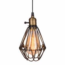 wire cage pendant light. Cushty Wire Cage Pendant Light
