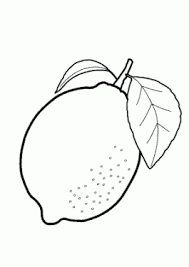 One Lemon Fruits Coloring Pages For Kids Printable Free Coloing