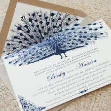 peacock invitations creative of peacock wedding invitations vintage cobalt blue peacock