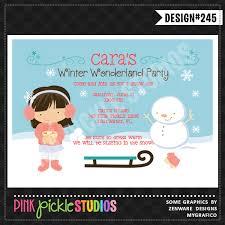 Winter Wonderland Girl Personalized Party Invitation