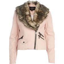 pink leather jacket with fur cairoamani com balfern leather biker jacket