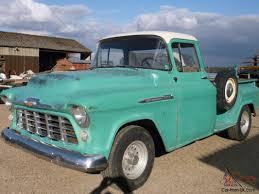 1956 Chevrolet stepside pickup truck Taxed UK reg runs drives well ...