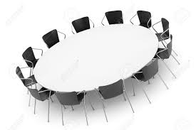 golden clipart round table conference