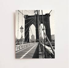 brooklyn bridge photography black and white new york city print