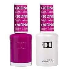 Dnd Gel Nail Polish Color Chart 2019 Dnd Gel Matching Polish Set 420 Bright Maroon