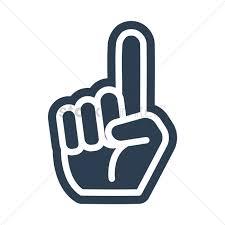 sports fan icon. foam finger icon vector graphic sports fan ,