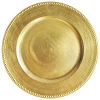 charger plates decorative: the jay companies  inch round gold beaded melamine charger plate
