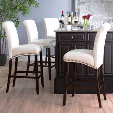 Furniture Nailhead Counter Stool Leather Bar Stools Tar Grey