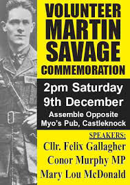 4th Annual Volunteer Martin Savage Commemoration - Indymedia Ireland
