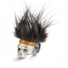 Sterling Silver Hairy <b>Skull Lapel Pin</b> – Deakin & Francis