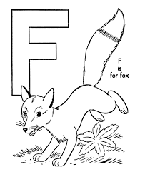 Small Picture ABC Alphabet Coloring Sheets ABC Fox Animal coloring page