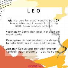 Popbela Apa Kabar Leo Hari Ini Zodiak فيسبوك