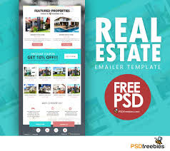 real estate e mailer template psd on behance real estate e mailer template psd or newsletter flat style designed which can be use for any kind of business like construction real