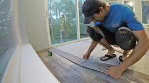 luxury vinyl tiles and planks modest install engineered vinyl plank flooring vid 12
