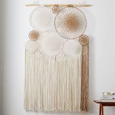 handwoven macrame tapestry wall art
