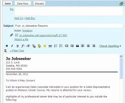 Resume Cover Letter Email