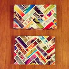 chevron wall art made out of magazine strips and shoe box lids  on diy shoebox wall art with chevron wall art made out of magazine strips and shoe box lids