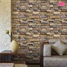 M♥ 3D Brick Wall Stickers Self Adhesive ...